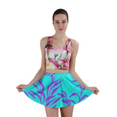 Branches Leaves Colors Summer Mini Skirt