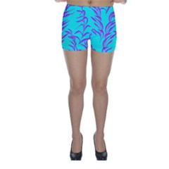 Branches Leaves Colors Summer Skinny Shorts