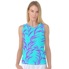 Branches Leaves Colors Summer Women s Basketball Tank Top
