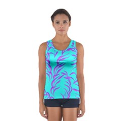 Branches Leaves Colors Summer Sport Tank Top