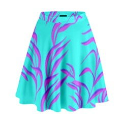Branches Leaves Colors Summer High Waist Skirt