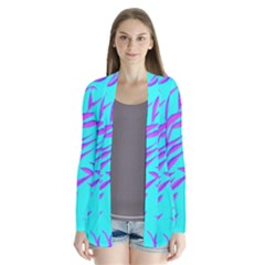 Branches Leaves Colors Summer Drape Collar Cardigan