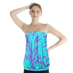 Branches Leaves Colors Summer Strapless Top
