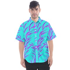 Branches Leaves Colors Summer Men s Short Sleeve Shirt