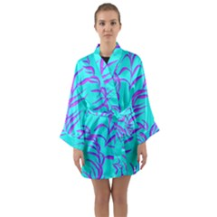 Branches Leaves Colors Summer Long Sleeve Kimono Robe