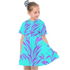 Branches Leaves Colors Summer Kids  Sailor Dress