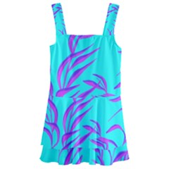 Branches Leaves Colors Summer Kids  Layered Skirt Swimsuit