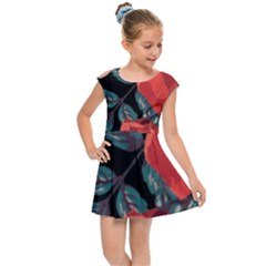 Bed Of Bright Red Roses By Flipstylez Designs Kids Cap Sleeve Dress by flipstylezdes