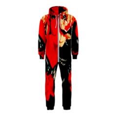 Bright Red Roses By Flipstylez Designs Hooded Jumpsuit (kids)