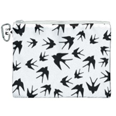 Vintage Birds Pattern Canvas Cosmetic Bag (xxl) by Valentinaart