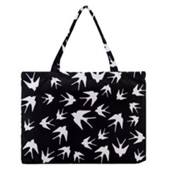 Birds Pattern Zipper Medium Tote Bag by Valentinaart