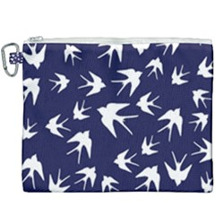 Birds Pattern Canvas Cosmetic Bag (xxxl) by Valentinaart