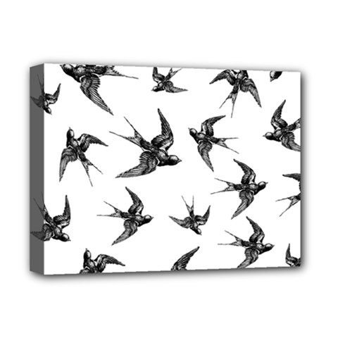 Birds Pattern Deluxe Canvas 16  X 12  (stretched)