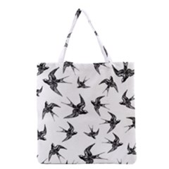 Birds Pattern Grocery Tote Bag