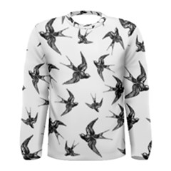 Birds Pattern Men s Long Sleeve Tee