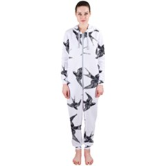 Birds Pattern Hooded Jumpsuit (ladies)