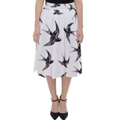 Birds Pattern Classic Midi Skirt