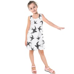 Birds Pattern Kids  Sleeveless Dress
