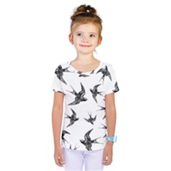 Birds Pattern Kids  One Piece Tee
