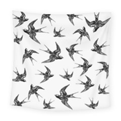 Birds Pattern Square Tapestry (large)