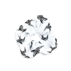 Birds Pattern Velvet Scrunchie