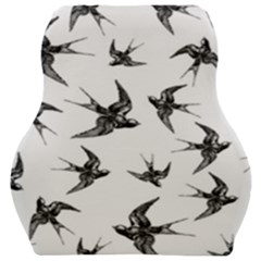 Birds Pattern Car Seat Velour Cushion  by Valentinaart