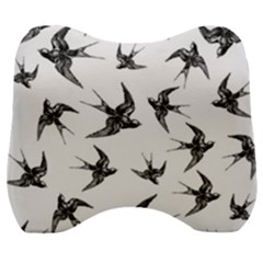 Birds Pattern Velour Head Support Cushion
