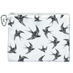 Birds Pattern Canvas Cosmetic Bag (xxl) by Valentinaart