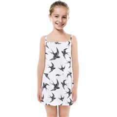 Birds Pattern Kids Summer Sun Dress