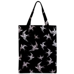 Birds Pattern Zipper Classic Tote Bag by Valentinaart