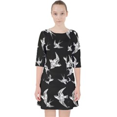 Birds Pattern Pocket Dress