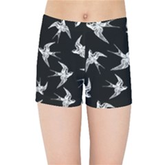 Birds Pattern Kids Sports Shorts