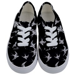 Birds Pattern Kids  Classic Low Top Sneakers