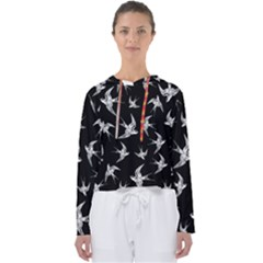 Birds Pattern Women s Slouchy Sweat
