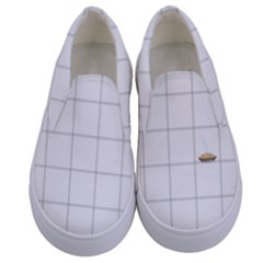 Pie Cooling On The Window Pane Pattern Kids  Canvas Slip Ons