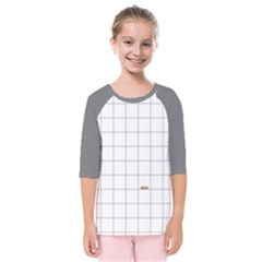 Pie Cooling On The Window Pane Pattern Kids  Quarter Sleeve Raglan Tee by emilyzragz