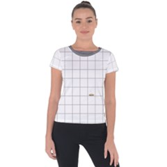 Pie Cooling On The Window Pane Pattern Short Sleeve Sports Top