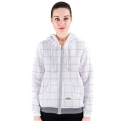 Pie Cooling On The Window Pane Pattern Women s Zipper Hoodie
