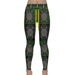 Stars And Flowers Decorative Classic Yoga Leggings