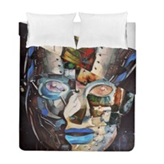 Robot Cyborg Cyberpunk Automation Duvet Cover Double Side (full/ Double Size)