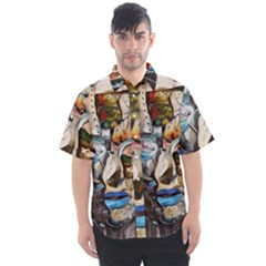 Robot Cyborg Cyberpunk Automation Men s Short Sleeve Shirt by Simbadda