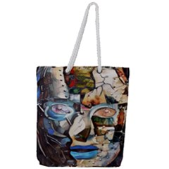 Robot Cyborg Cyberpunk Automation Full Print Rope Handle Tote (large)