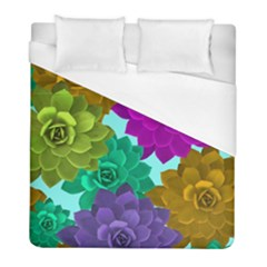 Flowers Stamping Pattern Reason Duvet Cover (full/ Double Size)