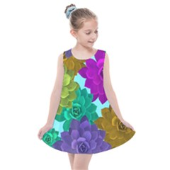 Flowers Stamping Pattern Reason Kids  Summer Dress by Simbadda