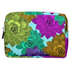 Flowers Stamping Pattern Reason Make Up Pouch (medium) by Simbadda
