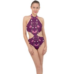 New Motif Design Textile New Design Halter Side Cut Swimsuit by Simbadda