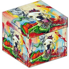 Wall Girl Dog Graphite Street Art Storage Stool 12