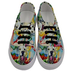 Wall Girl Dog Graphite Street Art Men s Classic Low Top Sneakers