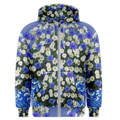 Marguerite Cornflower Vase Blossom Men s Zipper Hoodie