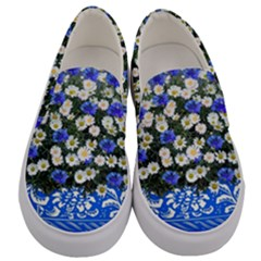 Marguerite Cornflower Vase Blossom Men s Canvas Slip Ons